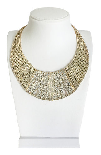 Luxury Full Crystal Statement Choker Necklace