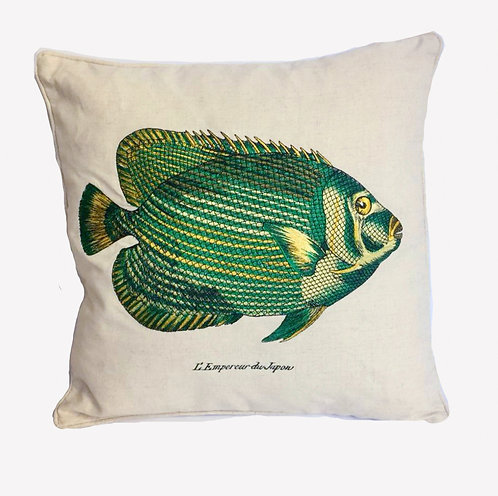 Imperatore Embroidery Fish Cushion Pillow