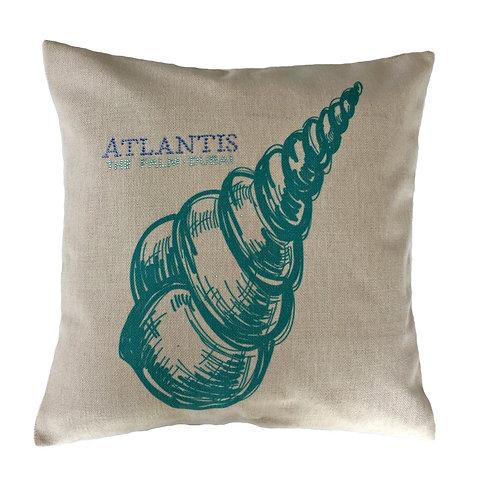 Fabric Seashell Design Throw Pillow Cover