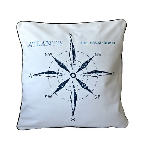 Compass Cotton Throw Pillow Cover