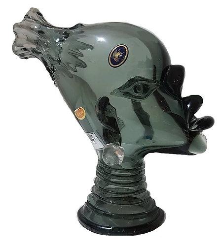 African Woman Head Murano Glass