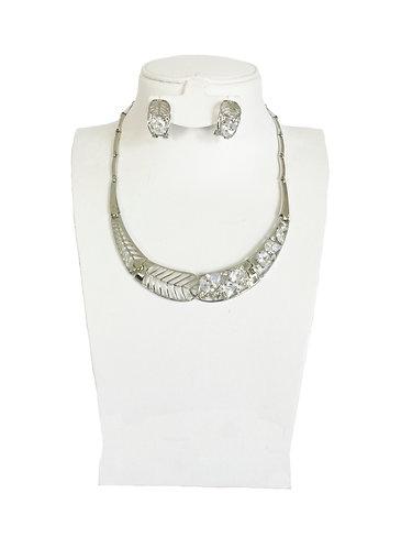 Leaf Style Crystal Rhinestones Jewelry Set …