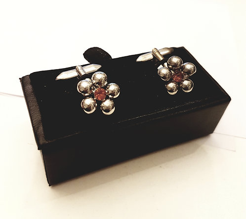Cufflinks Flowers with Gift Velvet Box