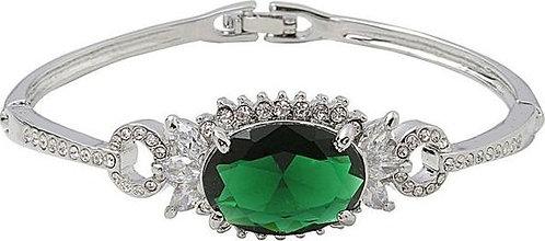 Green Vintage Crystal Bangle
