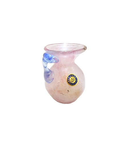 Antique Dig Frosted Opaline Murano Glass Vase