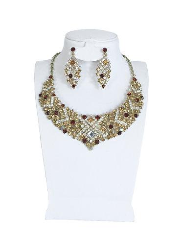 Luxury Full Crystal Rhinestones Jewelry Set …