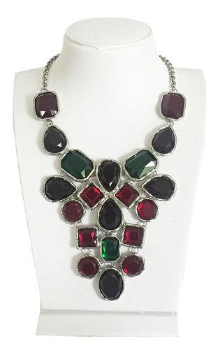 Multi-color Crystals Vintage Necklace