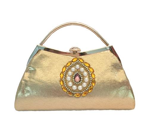 Luxury Gold Clutch Evening Bag