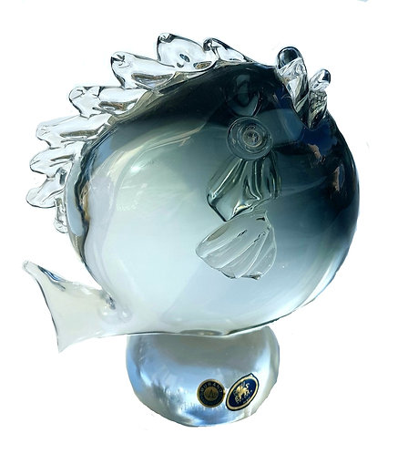 Moon Smoke Fish Murano Glass