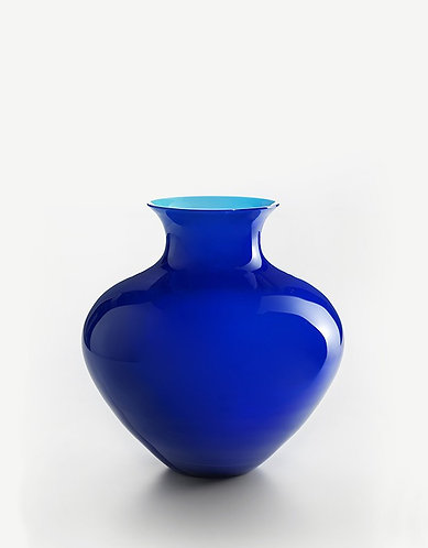 Murano Glass NM Blue / Azure Vase Design