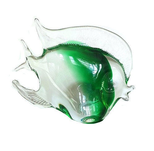 Murano Glass Green Fish