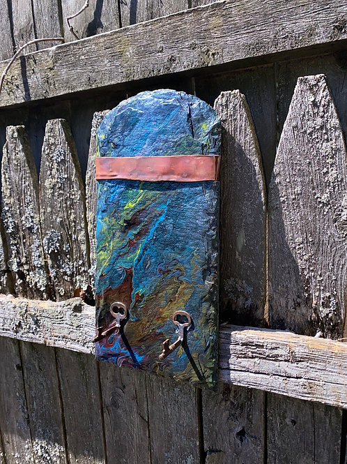Slate And Copper Wall Hanger