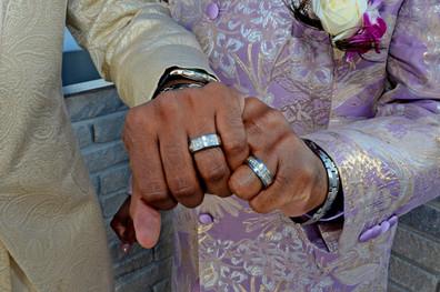 011D Gay African American Couple Wedding