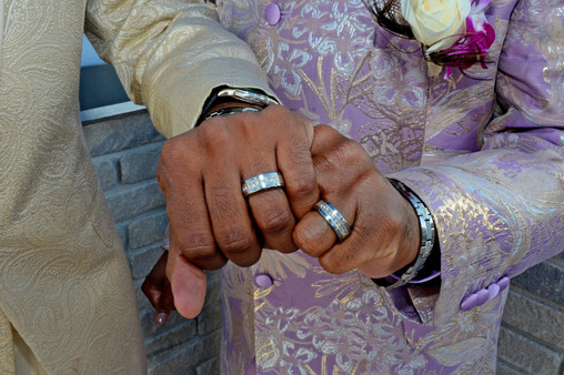 011D Gay African American Couple Wedding
