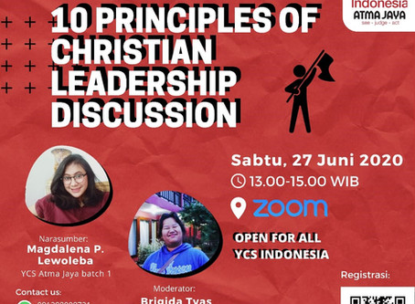 10 Principles of Christian Leadership Discussion by YCS Indonesia