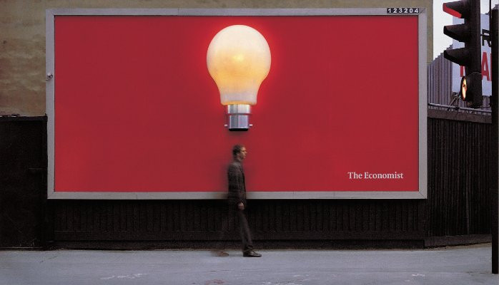 Economist outdoor advertisement