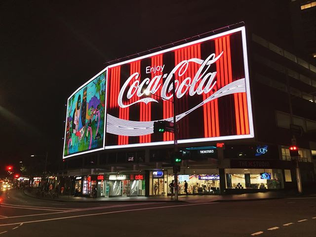 Kings Cross's famous Coca-Cola sign