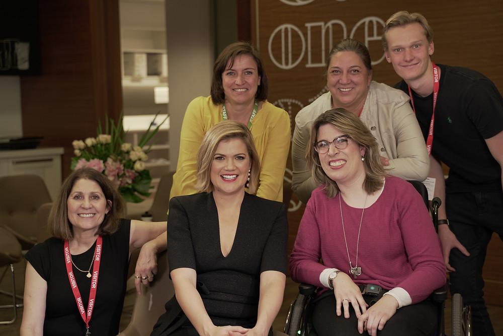 Studio 10's Sarah Harris, Glenda Wynyard and the Steptember production team