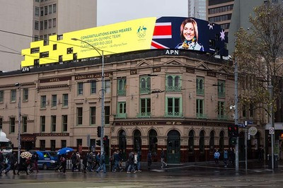 APN Outdoor's live Olympic messaging