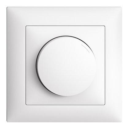 Variateur ENC EDIZIOdue 40-600W coupure de phase ascendante blanc