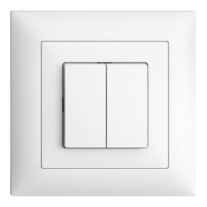 Interrupteur ENC EDIZIOdue 1/3+3/1P blanc 80×80mm