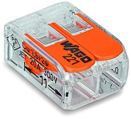 Borne pour boîte COMPACT série 221 2L 0.2-4mm²