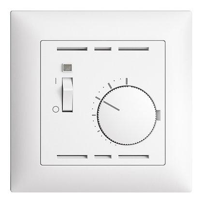 Thermostat d'ambiance ENC EDIZIOdue blanc, avec interrupteur