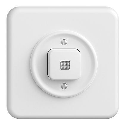 Interrupteur poussoir lumineux ENC STANDARDdue 3/1L blanc, lentille LED jaune