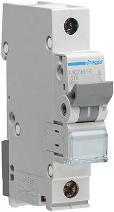 """Disjoncteur automatique Hager 6kA P/N """"C"""" LSC 16A"""