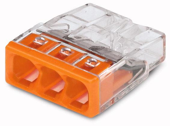 Borne WAGO 3L 0.5-2.5mm² de boîtier COMPACT 450V