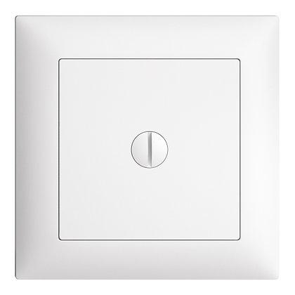 Plaque d'obturation EDIZIOdue blanc 77×77mm
