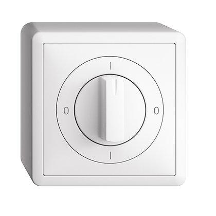Interrupteur rotatif AP EDIZIOdue 0/3P blanc, a. manette