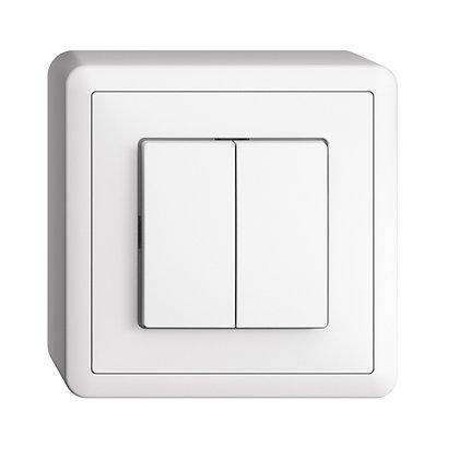 Interrupteur AP EDIZIOdue 1/3+3/1P blanc