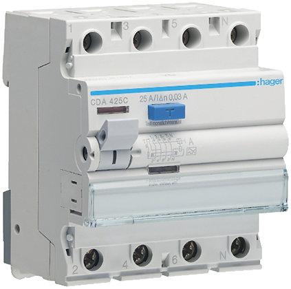 Interrupteur différentiel Hager 25A 30mA 3LN