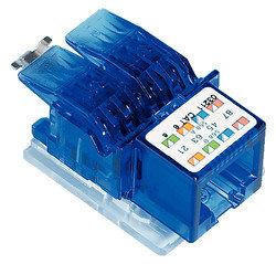 Module de connexion freenet 1×RJ45/u cat.6 AWG24-22 300MHz