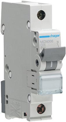 """Disjoncteur automatique Hager 6kA P/N """"C"""" LSC 6A"""