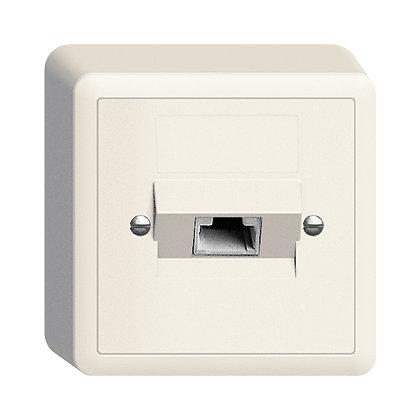 Prise AP 1×RJ45/u 4P ITplus EDIZIOdue blanc