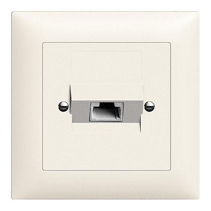 Prise ENC 1×RJ45/u 4P ITplus EDIZIOdue blanc