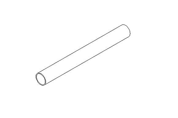 Tube alu M16 sans filet rigide