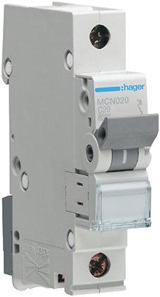 """Disjoncteur automatique Hager 6kA P/N """"C"""" LSC 20A"""