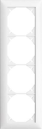 Cadre de recouvrement EDIZIOdue 4×1