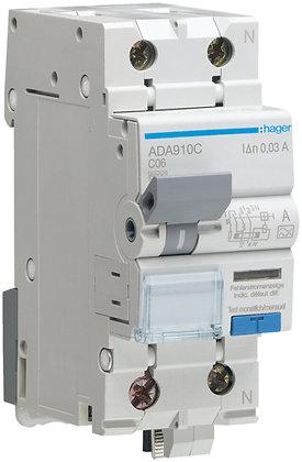 Disjoncteur différentiel Hager C 10A 30mA P+N