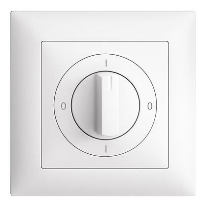 Interrupteur rotatif ENC EDIZIOdue 0/3P blanc, a. manette