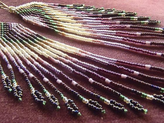 Gaia Inspired Seed Bead Earrings