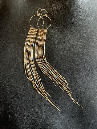 Bronzie Gold Aquamarine