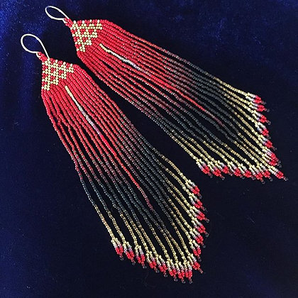 Mana Kea Inspired Seed Bead Earrings