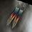 Thumbnail: Handmade Lapis Lazuli Solid Sterling Fringe Hoop & Chain Seed Bead Earrings