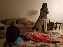 In home didgeridoo session
