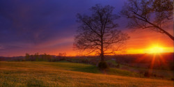 east tennessee fiery sunset