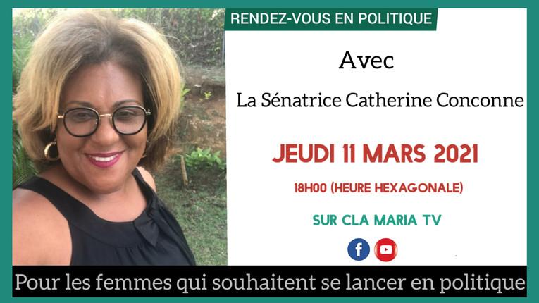 Interview avec Clamaria TV - Rendez Vous en Politique avec Catherine Conconne